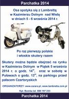 Skutermania XV Kazimierz Dolny - wspólny zlot zabytkowych  skuterów Lambretta  i  polskich skuterów Osa.