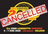 EUROLAMBRETTA 2020 - BELGIA  oficjalnie odwołana , w załączeniu korespondencja z LCB .